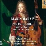 Pièces de viole des cinq livres : 1686, 1701, 1711, 1717 & 1725 | Marais, Marin (1656-1728). Compositeur