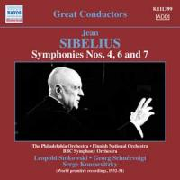 Symphonies Nos 4, 6 and 7 Jean Sibelius, comp. the Philadelphia orchestra Leopold Stokowski, dir. Finnish national orchestre Georg Schnéevoigt, dir... [et al.]