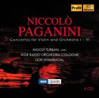 Concertos for violin and orchestra Niccolo Paganini, comp. Ingolf Turban, violon WDR Radio Orchestra Cologne Lior Shambadal, dir.
