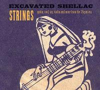 Excavated shellac strings