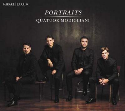 Portraits Leroy Anderson, Wolfgang Amadeus Mozart, Roman Hoffstetter...[et al.], compositeurs Quatuor Modigliani, quatuor instrumental