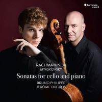 Sonatas for cello and piano / Sergueï Rachmaninov, Nikolaï Myaskovsky, Bruno Philippe, violoncelle, Jérôme Ducros, piano | Rachmaninov, Sergueï (1873-1943). Comp.