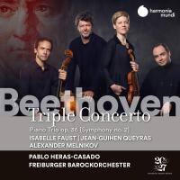 Triple concerto, opus 56, ut majeur / Ludwig van Beethoven (1770-1829), comp.   Beethoven, Ludwig van (1770-1827)