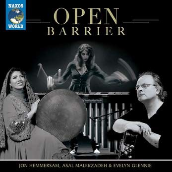 Open barrier Jon Hemmersan, guit. Asal Malekzadeh, daf Evelyn Glennie, perc.